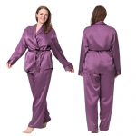 plus sized women's pajamas, silk pajamas for plus sized,
