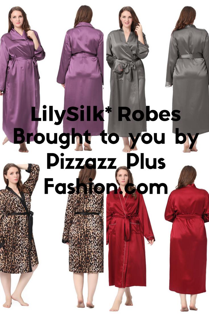 silk robes, plus sized silk robes, silk robes for plus size