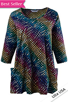 plus size blouse for ladies, pocketed plus sized blouse, multi-colored plus size blouse