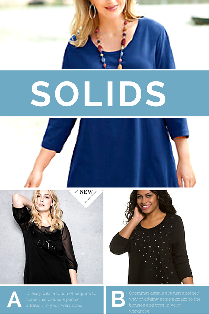 Pizzazz plus size blouses for women,