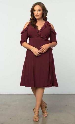 plus sized wrap dress, fancy wrap dress, plus sized Party dresses